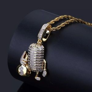 "Other - 14kGold Microphone Moneybag Pendant 24"" Rope Chain"